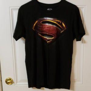 "Mens ""Man of Steel"" t-shirt large"